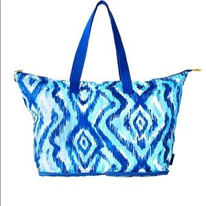 Lilly Pulitzer Getaway Tote Bag Blue Swish
